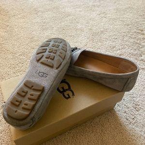 Ugg Davin Loafer Gray Suede Size 7